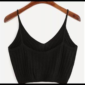 Cute Cotton Black Crop Top